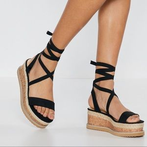Platform Cork Sandals Nasty Gal